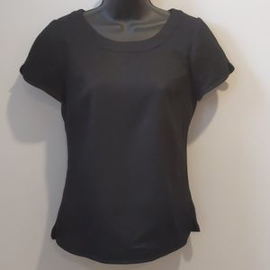 Banana Republic black textured top sz 0